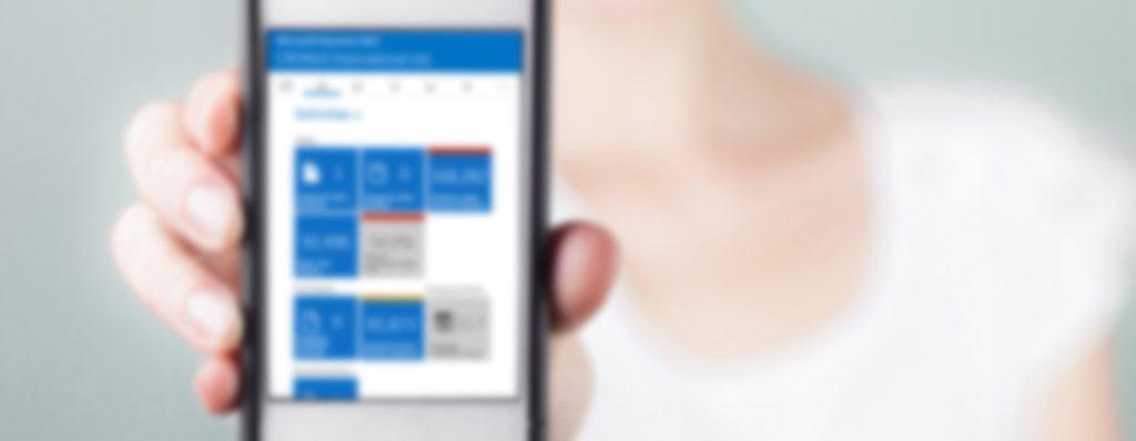 Dynamics NAV Universal App สำหรับ Windows 10, iOS, Android