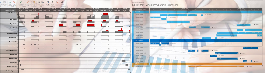 Visual production planning