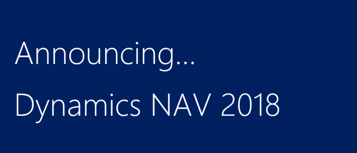 What's new Microsoft Dynamics NAV 2018