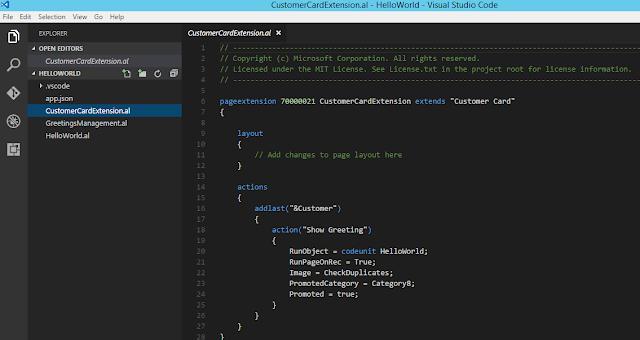 Visual Studio Code and AL language
