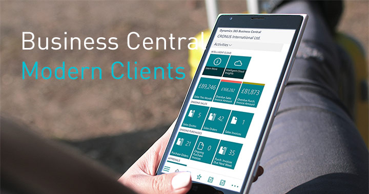 """Business to go"" using modern clients in Business Central"