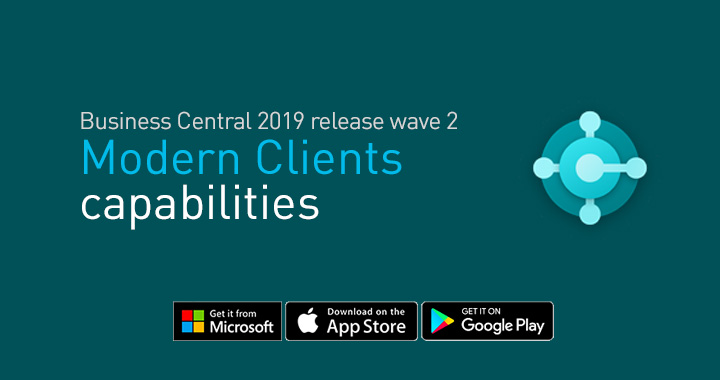 Modern clients features in Business Central 2019 release wave 2