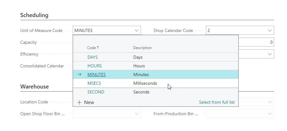 Resource capabilities in seconds and milliseconds