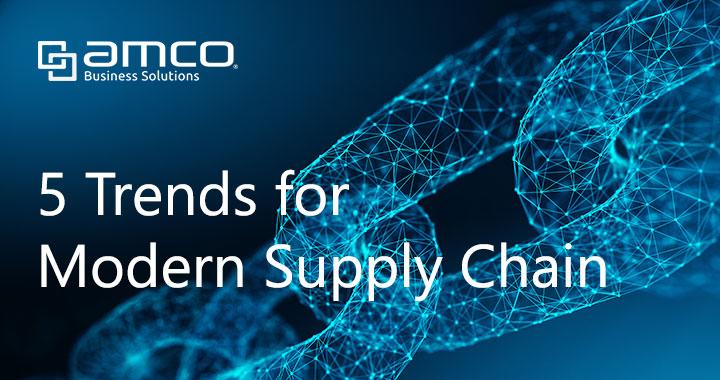 Modern supply chain background