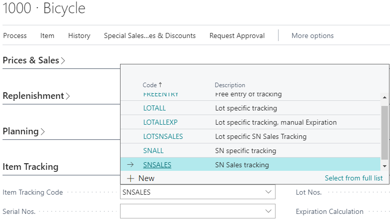 Assign tracking code